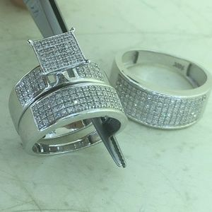 Jewelry - 2.0 CT Diamond Engagement Bridal 10 White Gold Set
